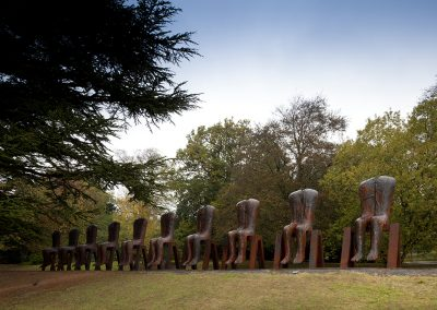 Yorkshire Sculpture Park (2) Magdalena Abakanowicz, Ten Seated Figures, 2010 courtesy the artist and Galerie Scheffel. Photo © Jonty Wilde