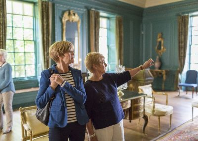 Visitors in the Blue Drawing Room at Treasurer's House, Yorkshire