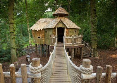 Craggletop Treehouse at RHS Garden Harlow Carr.