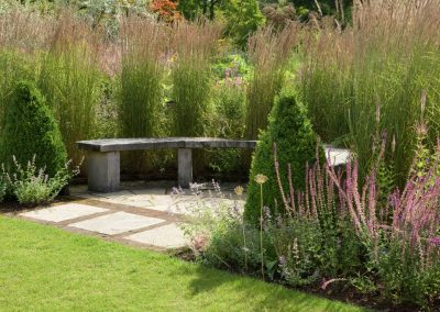 The Main Borders in summer at RHS Garden Harlow Carr