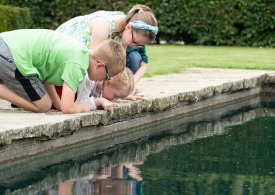 Children by Pond
